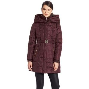 Kensie - Down Puffer Coat With Hood
